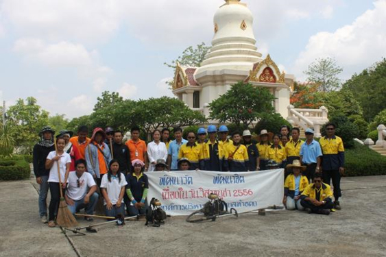 Akara employees and the villagers have joined together to clean and clear their local temples.